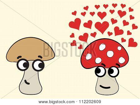 Mushrooms in love