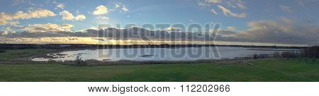 Panoramic View Of The Richtenberg Lake, Mecklenburg-vorpommern, Germany