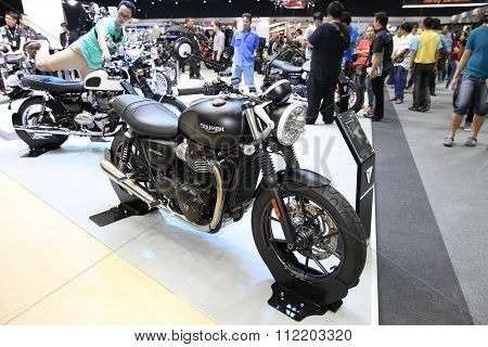 Bangkok - December 11 : Triumph Street Twin Motorcycle On Display At The Motor Expo 2015 On December