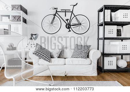 Modern Space And Bike