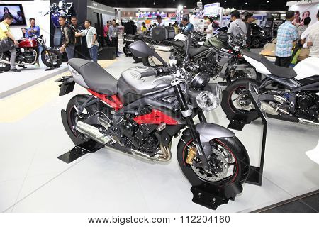 Bangkok - December 11 : Triumph Street Triple R Abs Motorcycle On Display At The Motor Expo 2015 On