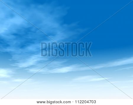 High resolution beautiful blue natural sky with white clouds paradise cloudscape background for summer or spring season or for space, environment, freedom, meteorology, atmosphere, heaven or tranquil
