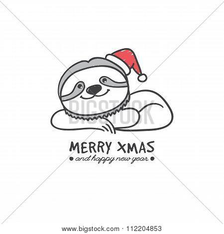 hand drawn sloth