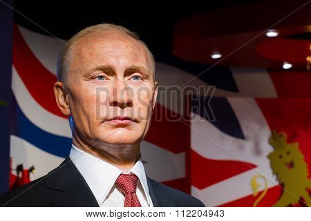 Bangkok, Thailand - December 19: Wax Figure Of The Famous Vladimir Putin From Madame Tussauds On Dec
