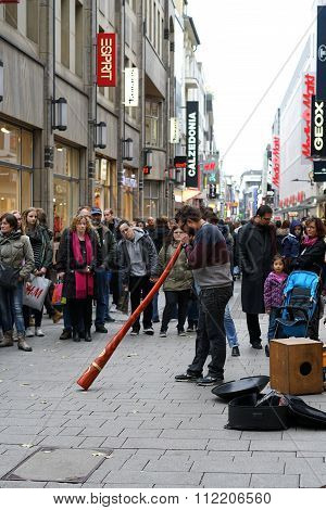 Street Musician in Cologne