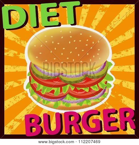 Burger Diet Tomato Pickles