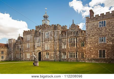 SUSSEX, UK - APRIL 11, 2015: Sevenoaks Old english mansion 15th century. Classic english country sid