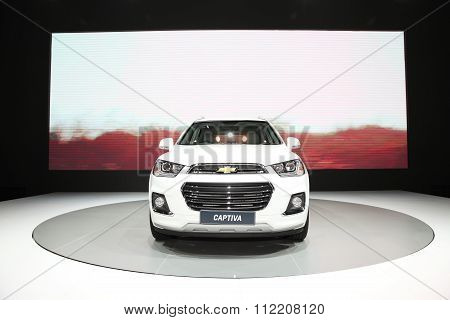 Bangkok - December 11: Chevrolet Captiva Car On Display At The Motor Expo 2015 On December 11, 2015