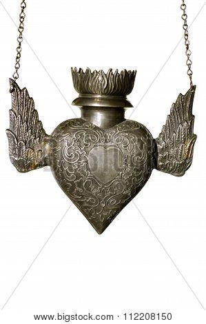 religious lamp heart