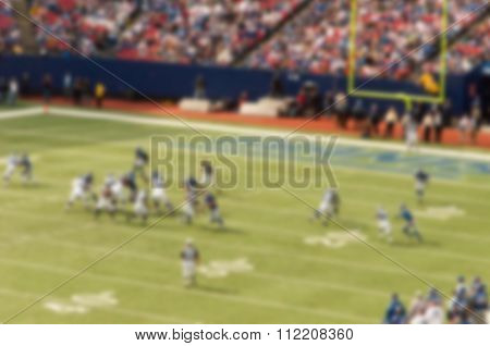 Blurred Out Of Focus Background Effect, New York, American Football Game
