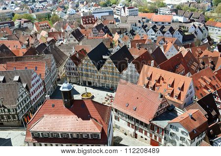 Herrenberg top view. Baden-Wurttemberg, Germany.
