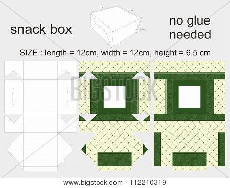 Green Snack Box 12 x 12 x 6,5 cm