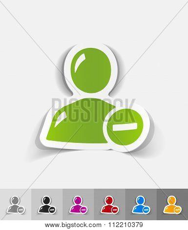realistic design element. remove contact
