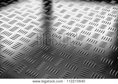 Industrial Steel Flooring Diagonal View