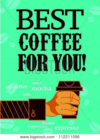 Vector flat bright colored coffee banner