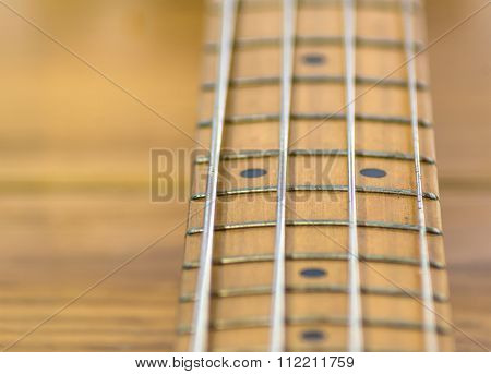 Electric Bass Fretboard