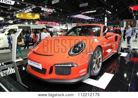 Bangkok - December 11: Porsche 911 Gt3Rs Car On Display At The Motor Expo 2015 On December 11, 2015