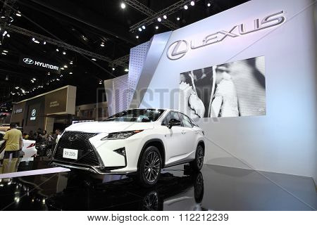 Bangkok - December 11: Lexus Rx 200T Car On Display At The Motor Expo 2015 On December 11, 2015 In B