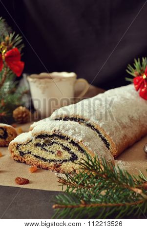 Stollen with poppy seeds