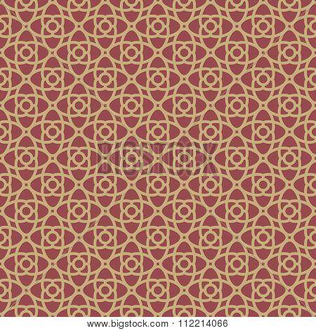 Red and Gold geometrical Pattern