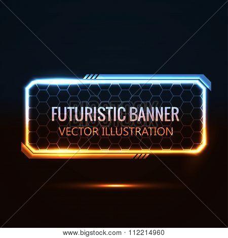 futuristic glowing background vector illustration