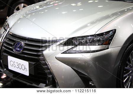Bangkok - December 11: Zoom Front Of Lexus Gs 300H Car On Display At The Motor Expo 2015 On December