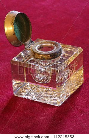 inkwell glass antique