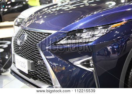 Bangkok - December 11: Zoom Front Of Lexus Rx 200T Car On Display At The Motor Expo 2015 On December