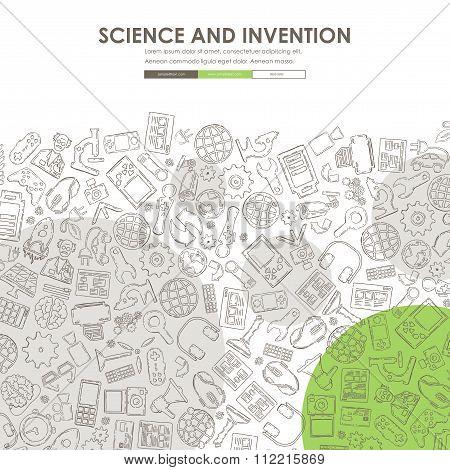 invention Doodle Website Template Design