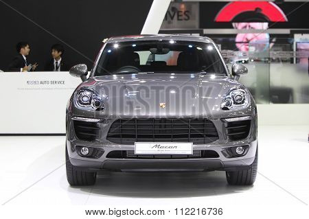 Bangkok - December 11: Porsche Macan Car On Display At The Motor Expo 2015 On December 11, 2015 In B