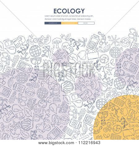 ecology Doodle Website Template Design