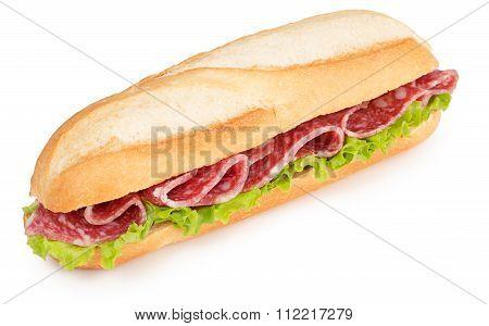 salami and lettuce sub