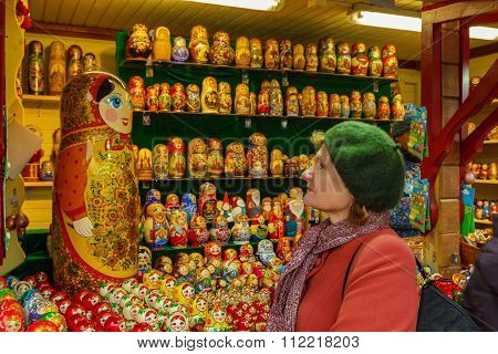 Woman And Matryoshka