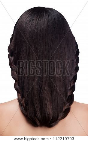 Braid Hairstyle Isolated On White Background