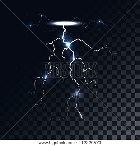 Vector lightning light effect