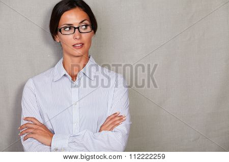 Disappointed Young Lady Looking Away Angry