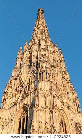 Spire Of St. Stephen Cathedral. Vienna, Austria