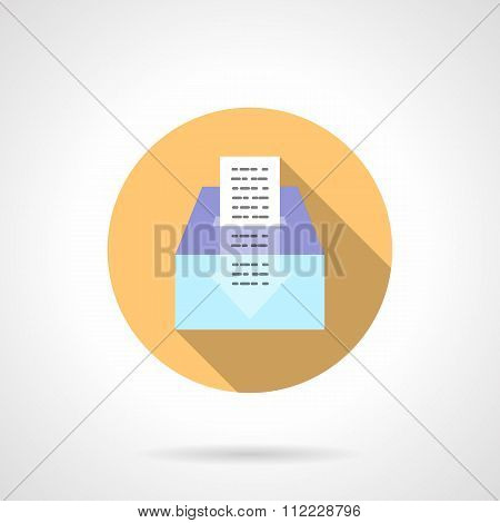 Donations flat color long shadow vector icon