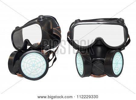 Rubber dust mask.