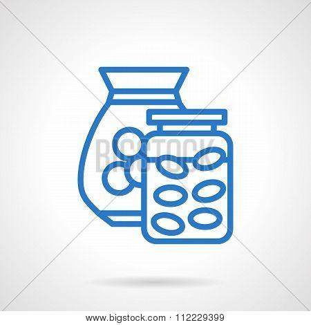 Saving money abstract blue line vector icon