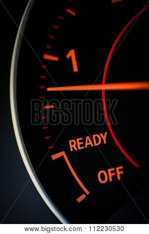 Car's Tachometer Detail
