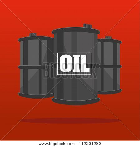 Three Oil Barrels