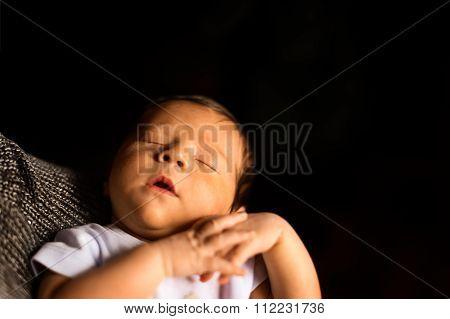 Newborn Sleeps  Copyspace Version