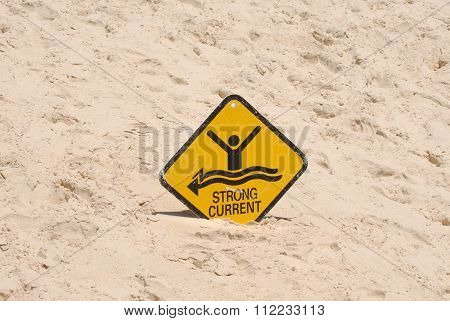 Warning sign on an Australian beach