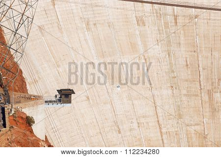Observation post on the Hoover Dam