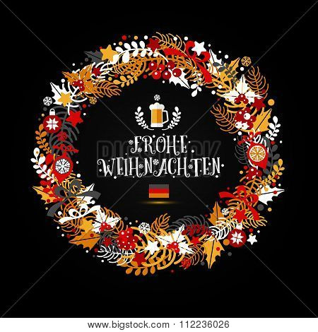 Christmas Wreath In Colors Of A Flag Of Germany