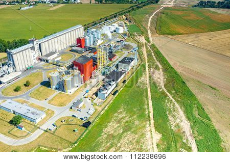 Biofuel Factory Aerial View