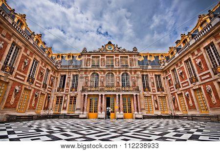 Marble Court, Cour de Marbre, Versailles Palace, Paris, France