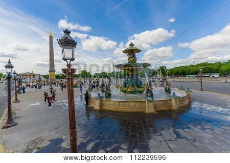 Beautiful view of Place de la Concorde, Paris France