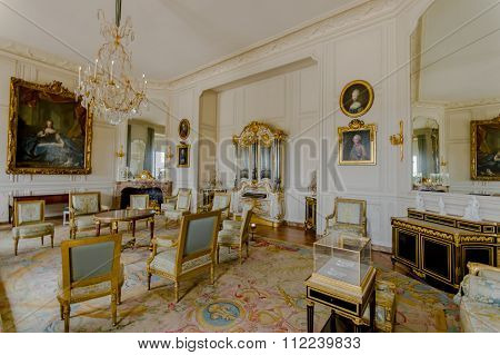 Interiors of Chateau de Versailles, near Paris, France